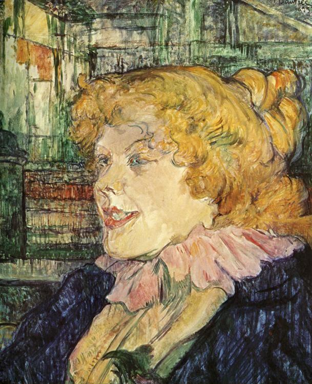 Henri de Toulouse-Lautrec. The English Barmaid at the Star in Le Havre.