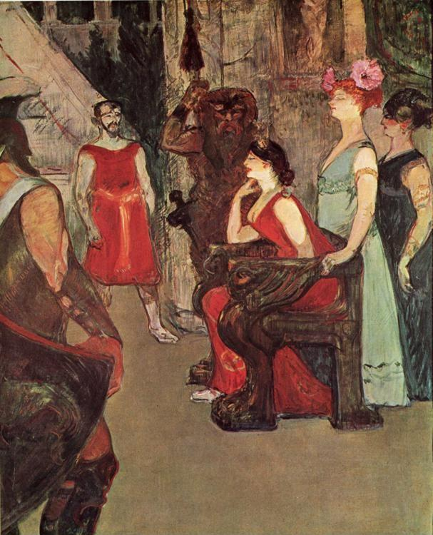Henri de Toulouse-Lautrec. Messalina Seated.