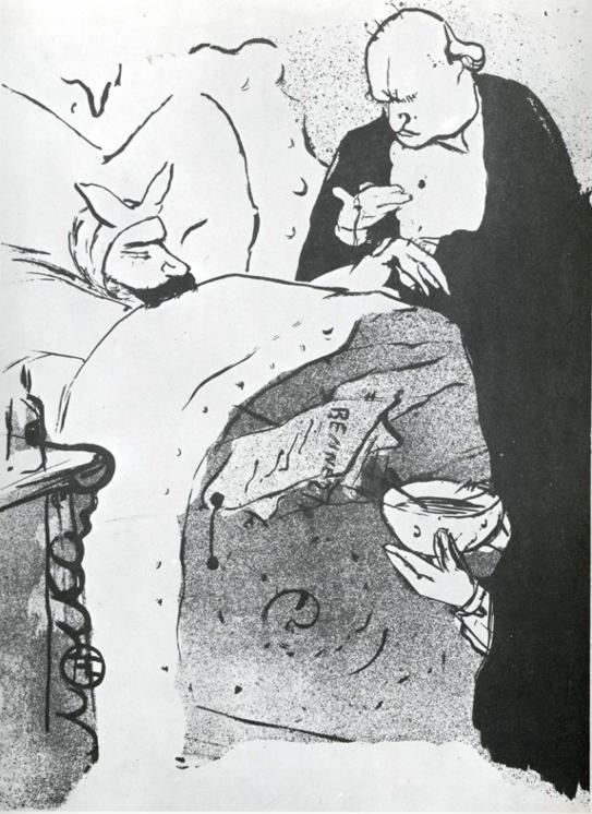 Henri de Toulouse-Lautrec. Carnot Malade! / Cannot Ill, a Song Sung at the Chat Noir.