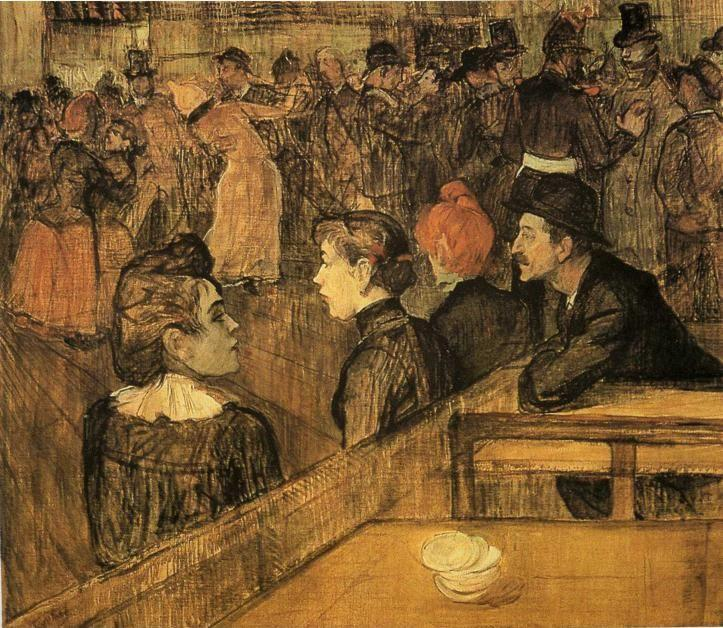 Henri de Toulouse-Lautrec. Au Bal du Moulin de la Galette / At the Moulin de la Galette.