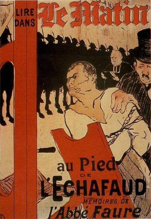 Henri de Toulouse-Lautrec. Poster for. Le Matin: Au Pied de léchafaud / At the Foot of the Scaffold.