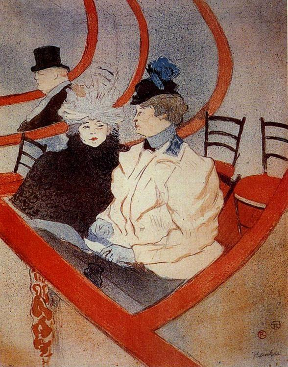 Henri de Toulouse-Lautrec. La Grande Loge / The Large Theater Box.