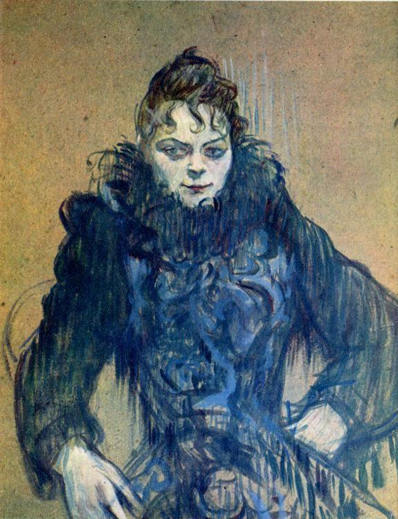 Henri de Toulouse-Lautrec. Woman with Black Feather Boa.