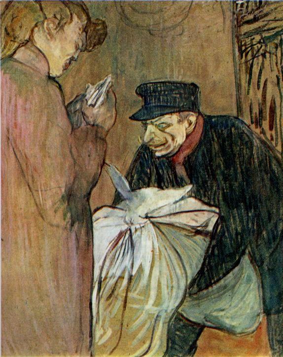 Henri De Toulouse Lautrec The Brothel Laundryman Le