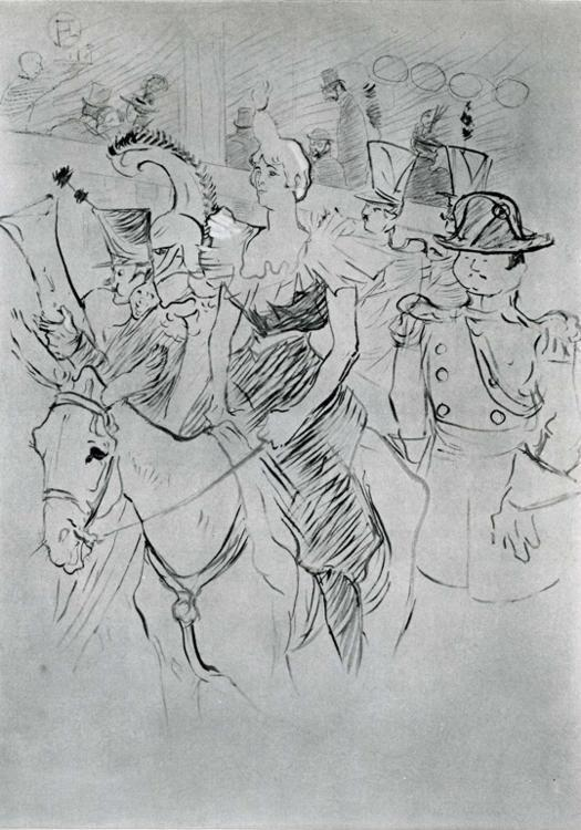 Henri de Toulouse-Lautrec. Gala Evening at the Moulin Rouge: Entry of Cha-U-Kao.