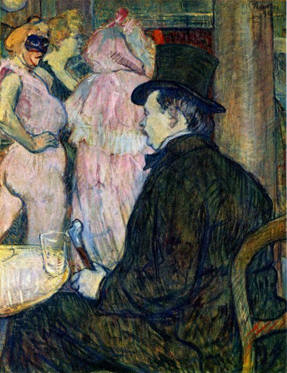 Henri de Toulouse-Lautrec. Maxime Dethomas: At the Ball of the Opéra.