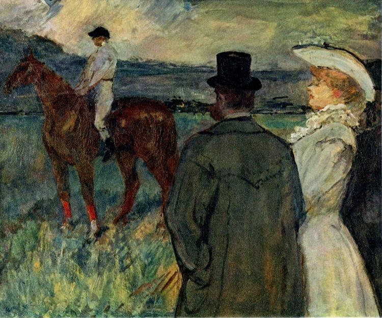 Henri de Toulouse-Lautrec. At the Races.