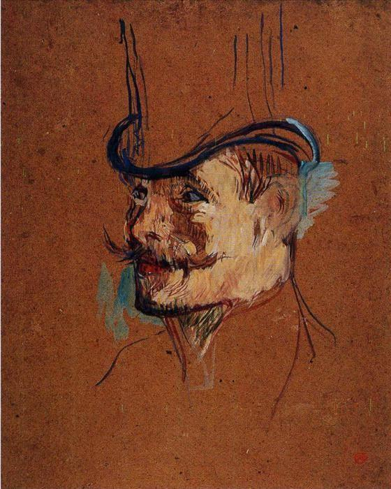 Henri de Toulouse-Lautrec. William Warrener (Study for The Englishman at the Moulin Rouge).