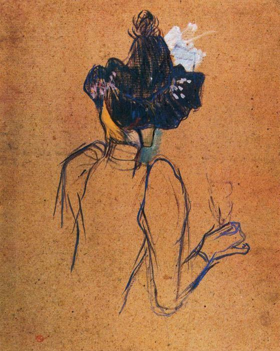 Henri de Toulouse-Lautrec. Jane Avril. Back View.