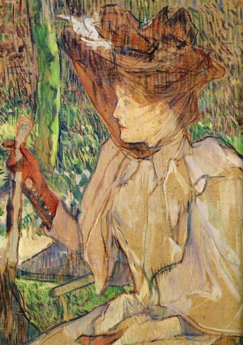 Henri de Toulouse-Lautrec. Woman with Gloves (Honorine Platzer).