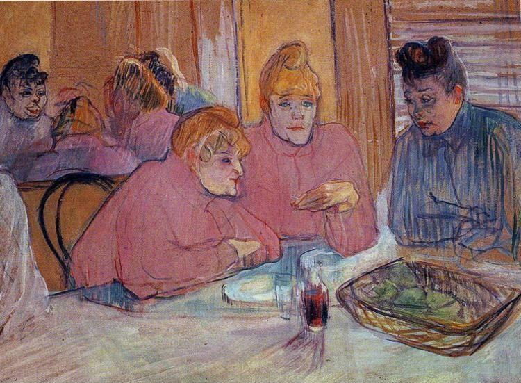 Henri de Toulouse-Lautrec. Prostitutes Around a Dinner Table.