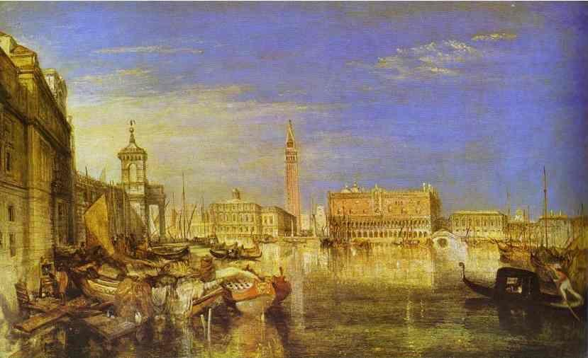 William Turner. Bridge of Sighs, Ducal Palace and Custom-House, Venice: Canaletti Painting.