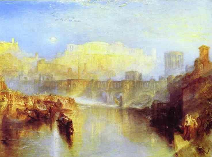 William Turner. Ancient Rome; Agrippina Landing with the Ashes of Germanicus.
