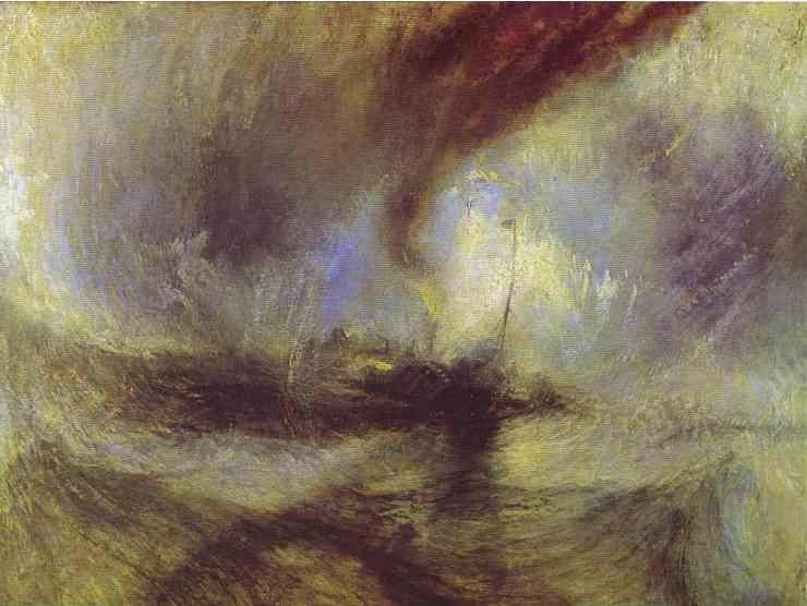 William Turner. Snow Storm - Steam-Boat off a Harbour's Mouth.
