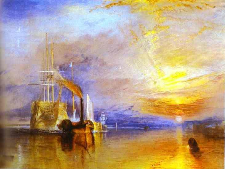 William Turner. The Fighting Temeraire Tugged to Her Last Berth to Be Broken up.