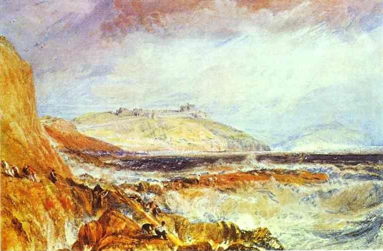 William Turner. Pendennis Castle, Cornwall; Scene after a Wreck.