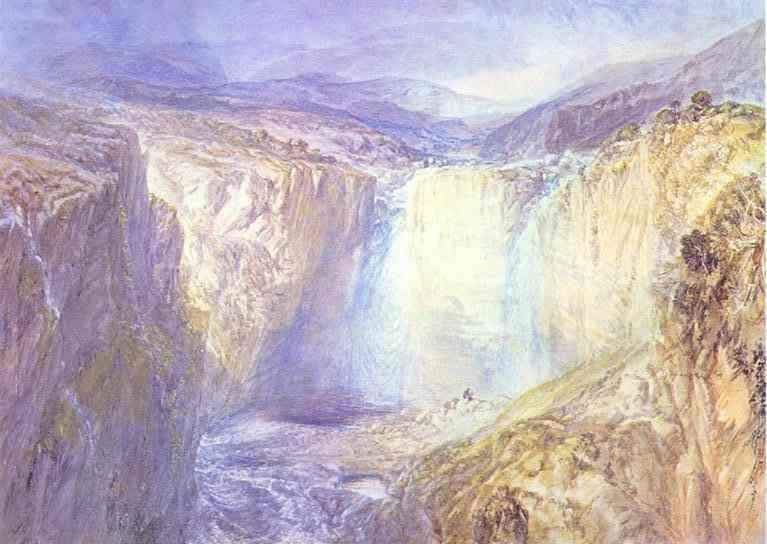 William Turner. Fall of the Tees, Yorkshire.