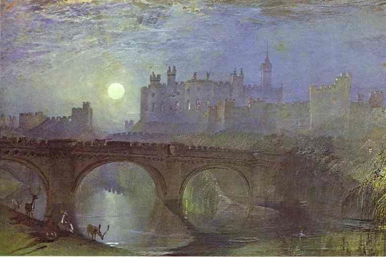 William Turner. Alnwick Castle, Northumberland.
