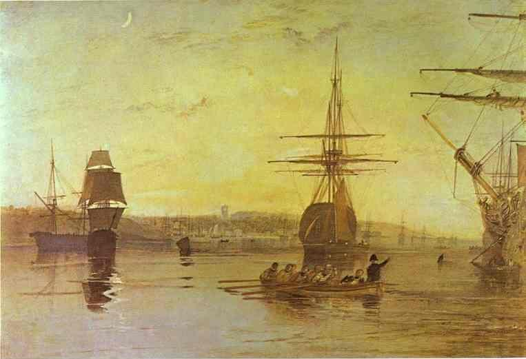 William Turner. Cowes, Isle of Wight.