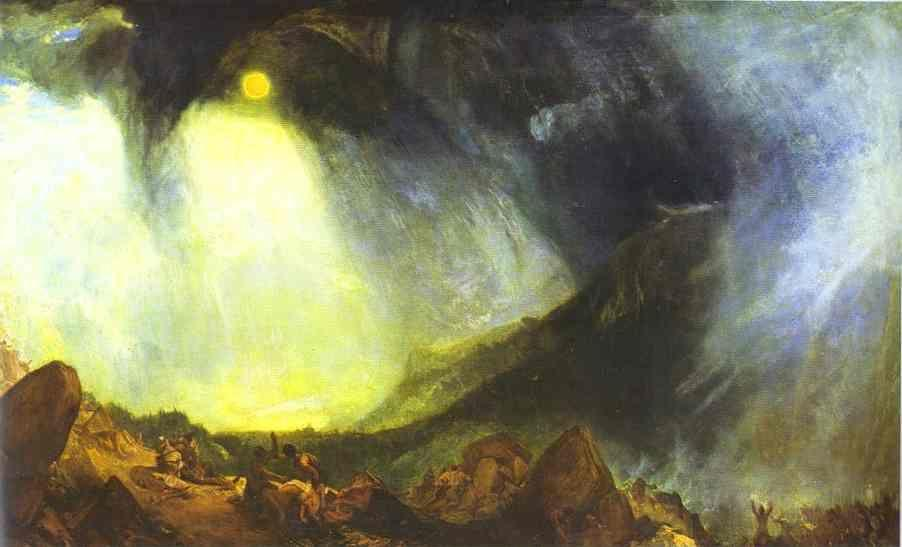 William Turner. Snow Storm: Hannibal and His Army Crossing the Alps.