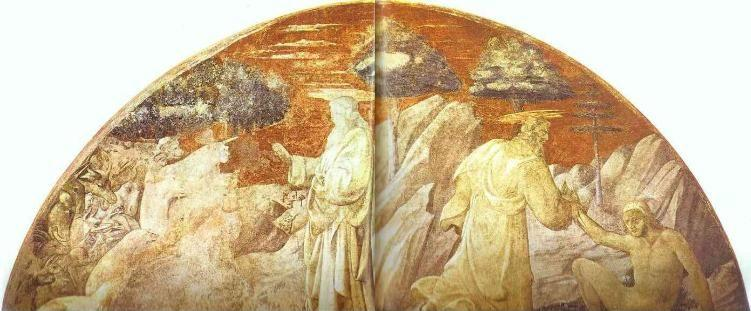 Paolo Uccello. The Creation of Animals, and the Creation of Man.