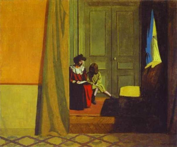 Félix Vallotton. Woman Reading to a Small Girl/Femme faisant lire à une petite fille.