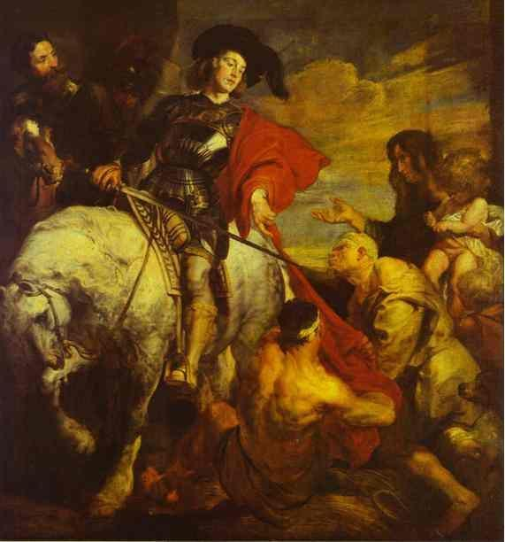 Anthony van Dyck. St. Martin Dividing His Cloak.