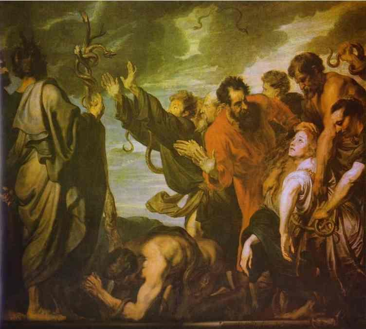 Anthony van Dyck. Moses and the Serpent.
