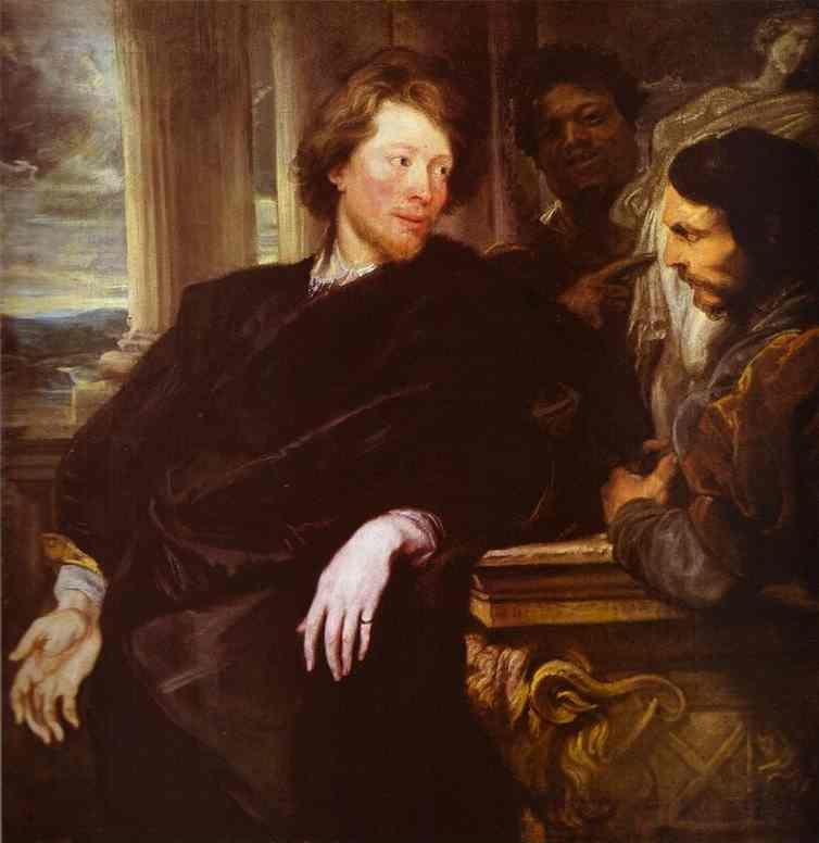 Anthony van Dyck. George Gage, Looking at a Statuette.