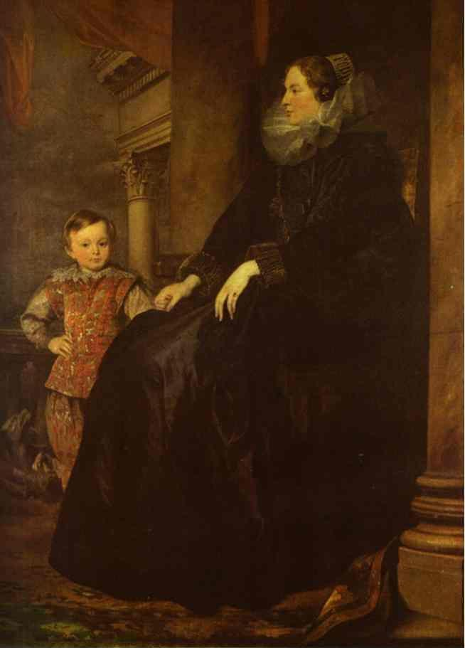 Anthony van Dyck. Paola Adorno, Marchesa Brinole-Sale with Her Son.