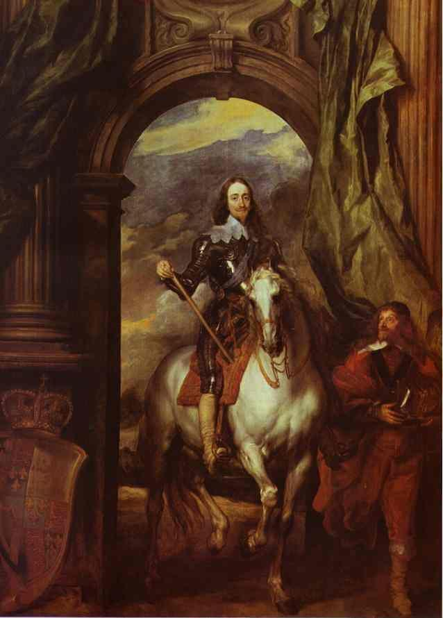 Anthony van Dyck. Equestrian Portrait of Charles I, King of England with Seignior de St. Antoine.