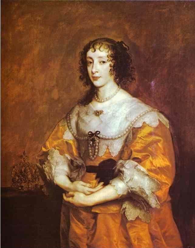 Anthony van Dyck. Queen Henrietta Maria.