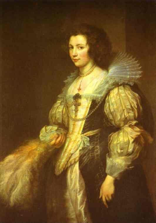 Anthony van Dyck. Portrait of Maria Louisa de Tassis.