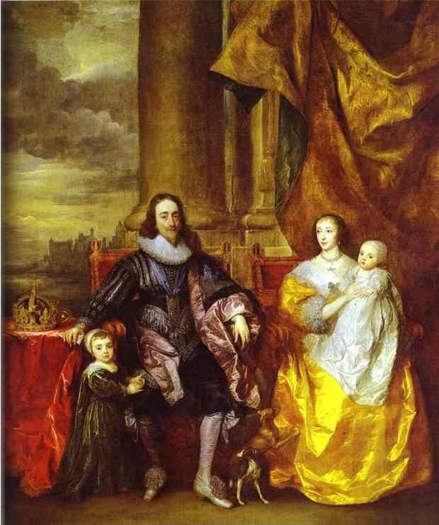 Anthony van Dyck. Charles I and Queen Henrietta Maria with Charles, Prince of Wales and Princess Mary.