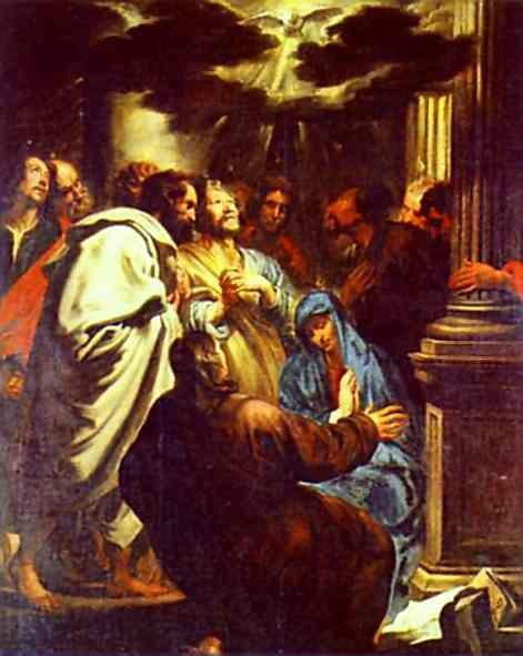 Anthony van Dyck. The Descent of the Holy Spirit (Pentecost).