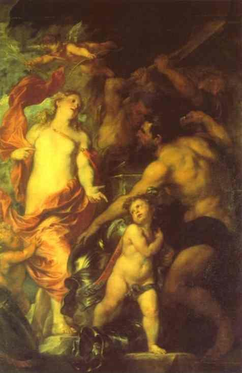 Anthony van Dyck. Venus Asking Vulcan for Arms for Aeneas.