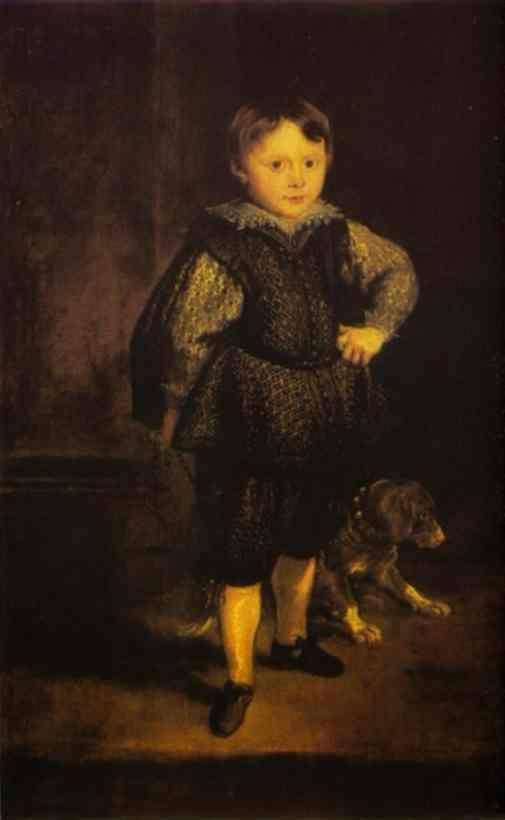 Anthony van Dyck. Portrait of Filippo Cattaneo, Son of Marchesa Elena Grimaldi.