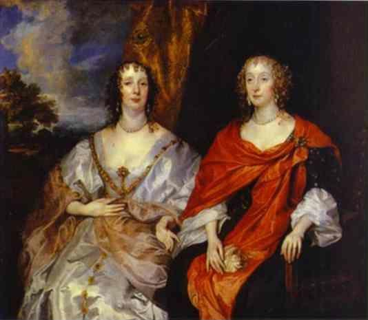 Anthony van Dyck. Portrait of Anna Dalkeith, Countess of Morton, and Lady Anna Kirk.