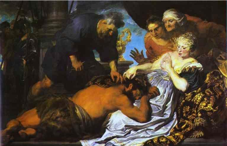 Anthony van Dyck. Samson and Delilah.