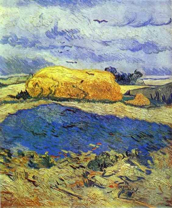 Vincent van Gogh. Haystack in Rainy Day.