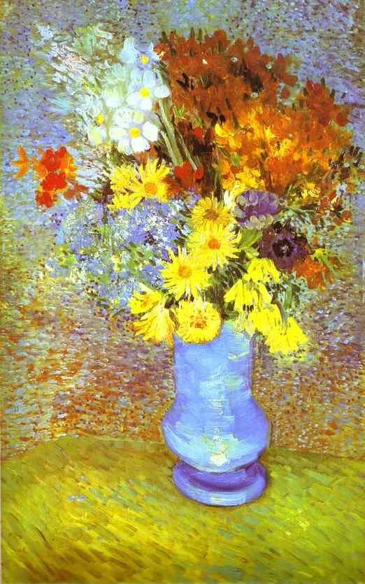 Vincent van Gogh. Vase with Daisies and Anemones.