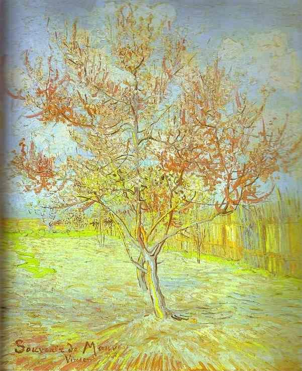 Vincent van Gogh. Peach Tree in Bloom. (In memory of Mauve).