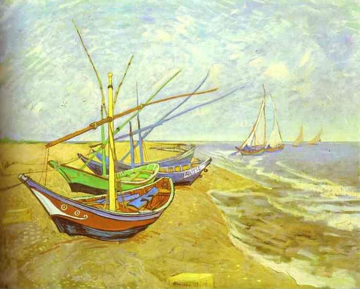 Vincent van Gogh. Fishing Boats on the Beach.