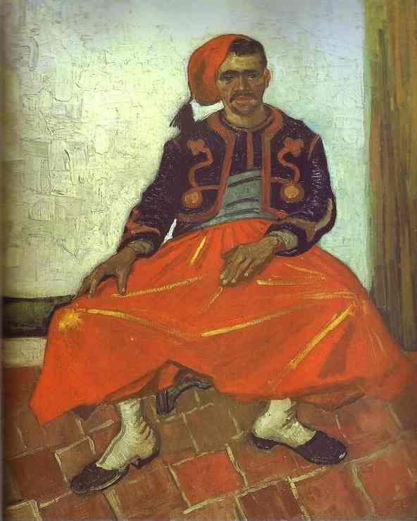 Vincent van Gogh. Zouave Milliet Seated.