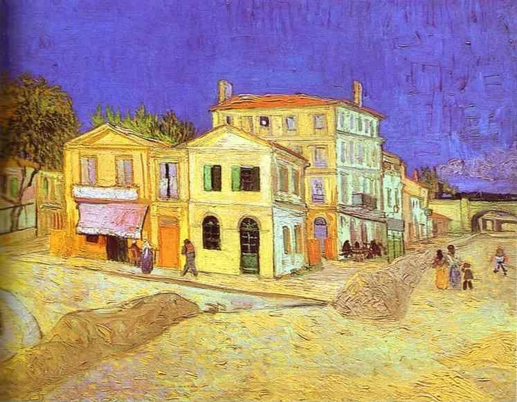 Vincent van Gogh. Vincent's House in Arles (The Yellow House).