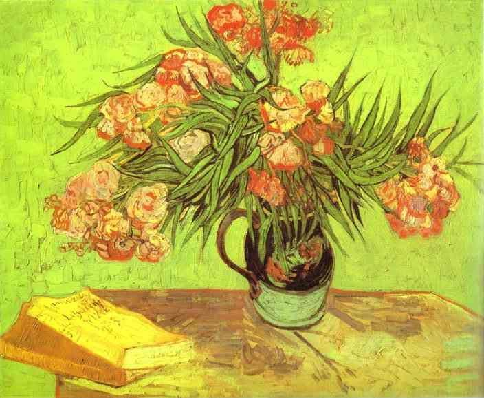 Vincent van Gogh. Majolica Jar with Branches of Oleander.