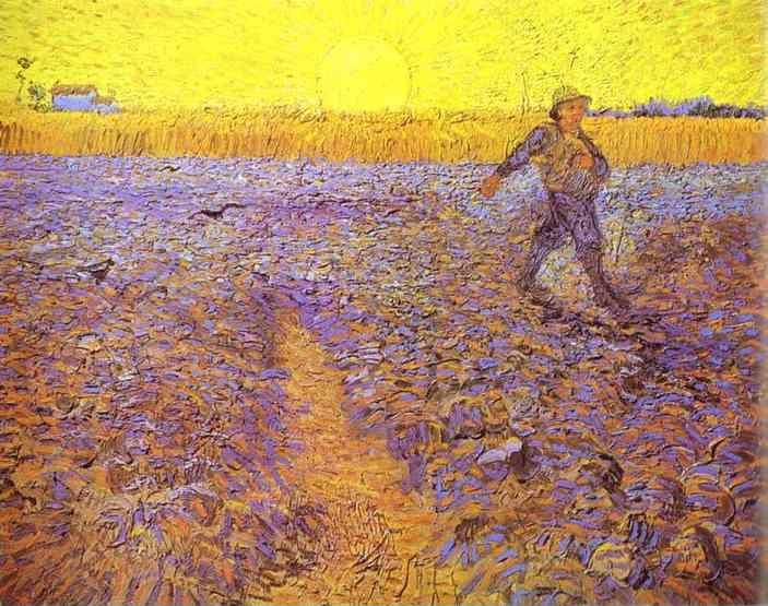 Vincent van Gogh. Sower with Setting Sun (After Millet).