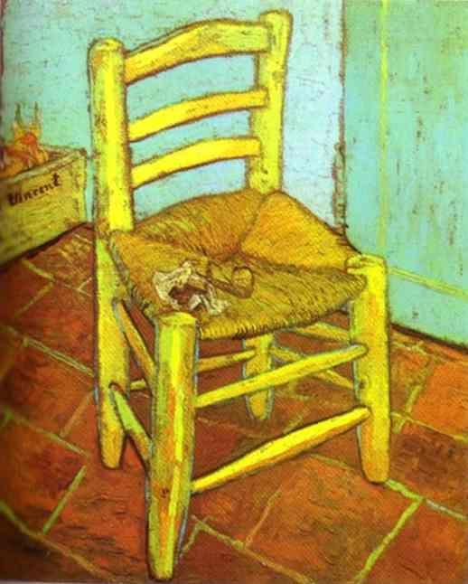 Vincent van Gogh. Vincent's Chair with Pipe.
