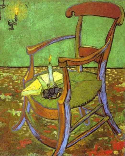 Vincent van Gogh. Gauguin's Chair with Books and Candle.