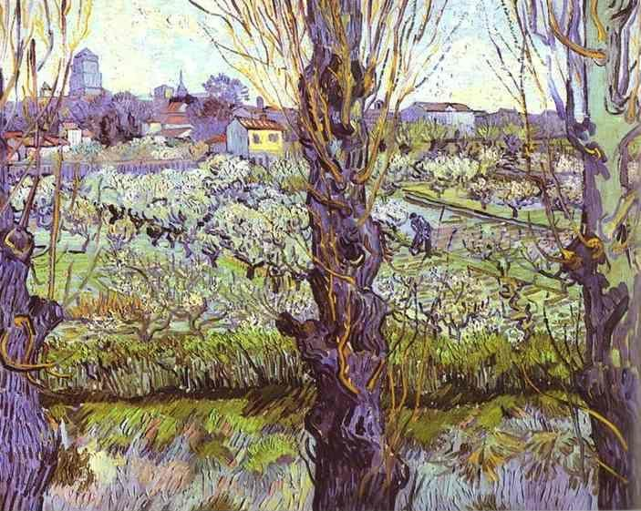 Vincent van Gogh. View of Arles. Orchard in Bloom with Poplars in the Forefront.